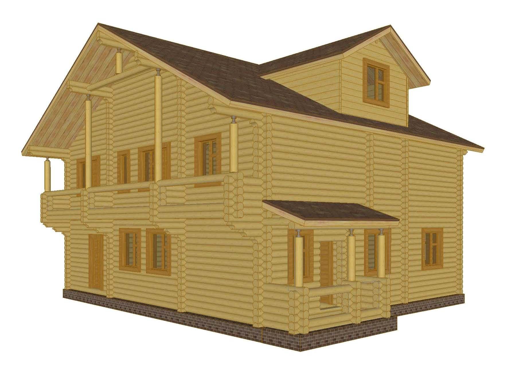 Деревянные дома из бруса под ключ  проекты строительство